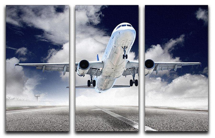 airplane take-off 3 Split Panel Canvas Print