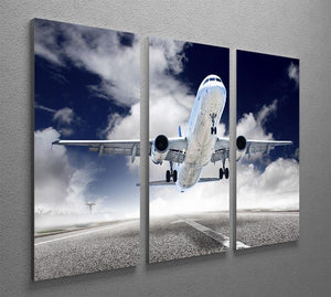 airplane take-off 3 Split Panel Canvas Print - Canvas Art Rocks - 2