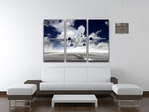 airplane take-off 3 Split Panel Canvas Print - Canvas Art Rocks - 3