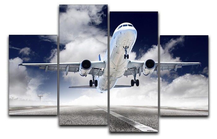 airplane take-off 4 Split Panel Canvas