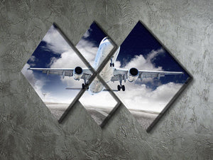 airplane take-off 4 Square Multi Panel Canvas  - Canvas Art Rocks - 2