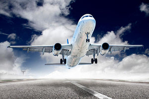 airplane take-off Wall Mural Wallpaper - Canvas Art Rocks - 1