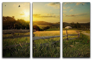 art rural landscape 3 Split Panel Canvas Print - Canvas Art Rocks - 1