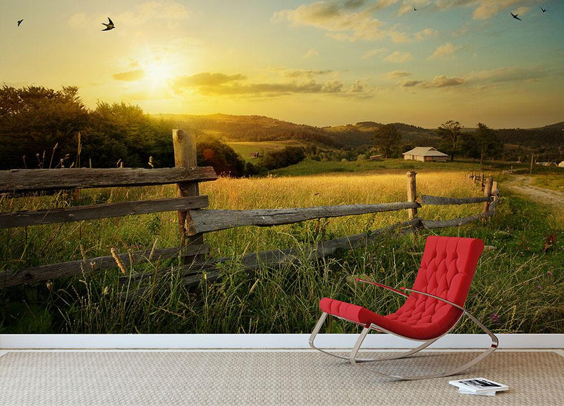 art rural landscape Wall Mural Wallpaper - Canvas Art Rocks - 2