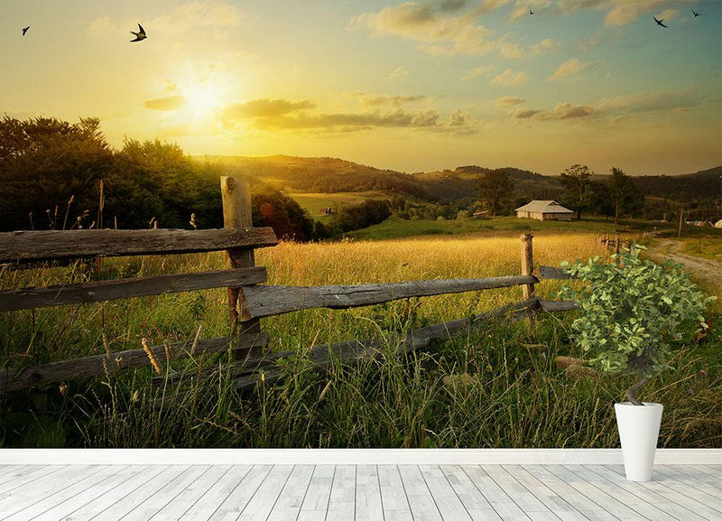 art rural landscape Wall Mural Wallpaper - Canvas Art Rocks - 4