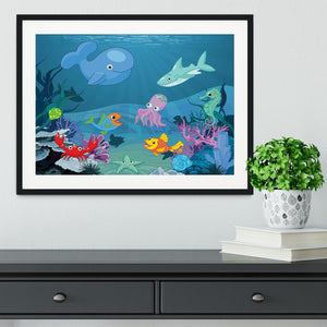background of an underwater life Framed Print - Canvas Art Rocks - 1