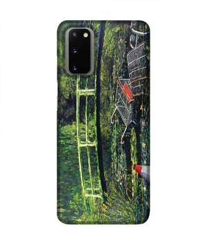 banksy Water Lilies Trash Phone Case Samsung S20