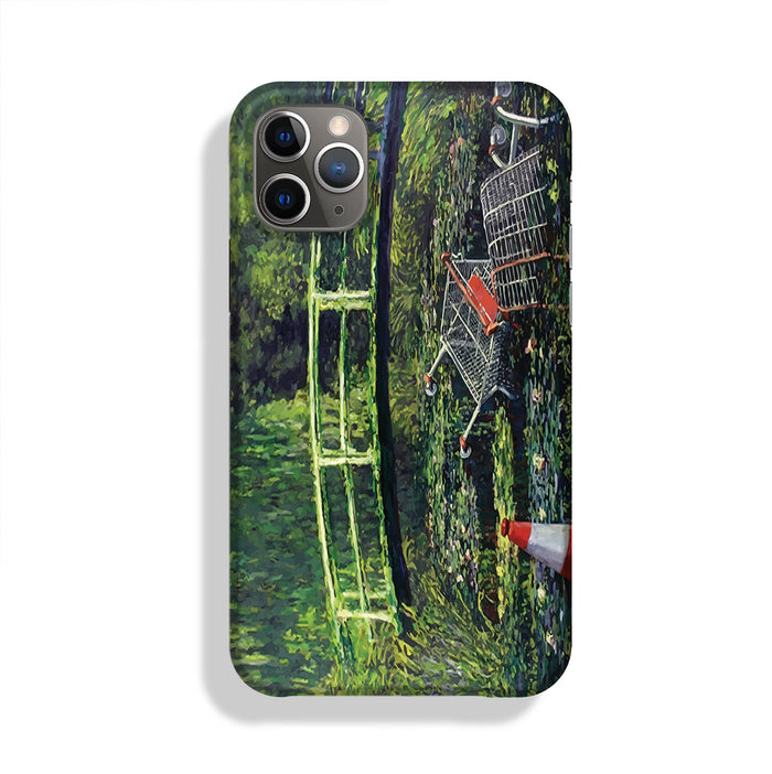 banksy Water Lilies Trash Phone Case