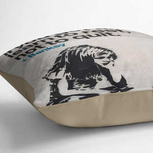 banksy if you get tired Cushion