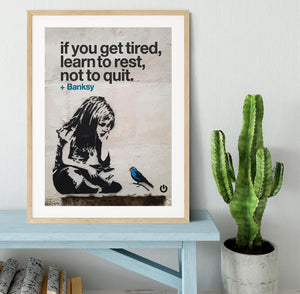 banksy if you get tired Framed Print - Canvas Art Rocks - 3