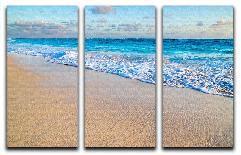 beach and beautiful tropical sea 3 Split Panel Canvas Print - Canvas Art Rocks - 1