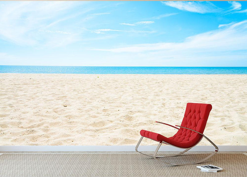 beach background with copy space Wall Mural Wallpaper - Canvas Art Rocks - 1