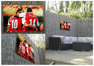 Thierry Henry and Dennis Bergkamp Legends Metal Print - Canvas Art Rocks - 2