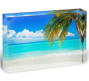 clear blue sea Beach Acrylic Block - Canvas Art Rocks - 1
