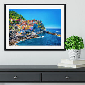 colorful cityscape on the mountains Framed Print - Canvas Art Rocks - 1