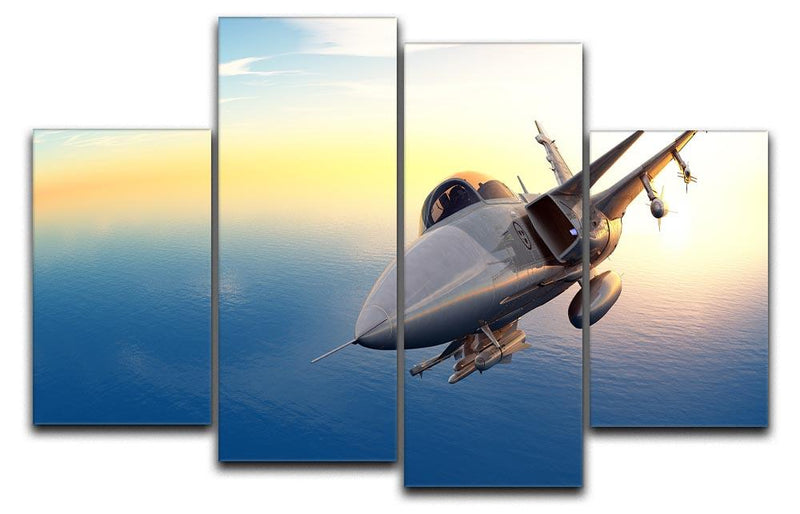 fighter 2 4 Split Panel Canvas  - Canvas Art Rocks - 1