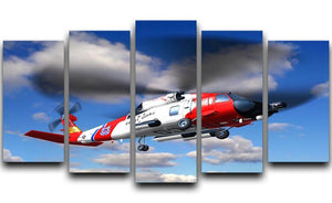 helicopter coast guard 5 Split Panel Canvas  - Canvas Art Rocks - 1