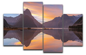 high mountain glacier at milford sound 4 Split Panel Canvas  - Canvas Art Rocks - 1