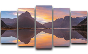 high mountain glacier at milford sound 5 Split Panel Canvas  - Canvas Art Rocks - 1