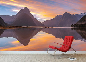 high mountain glacier at milford sound Wall Mural Wallpaper - Canvas Art Rocks - 2