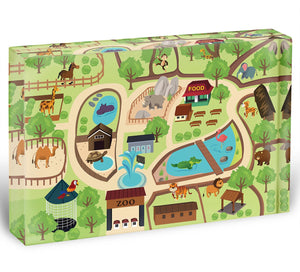 illustration of map of a zoo park Acrylic Block - Canvas Art Rocks - 1