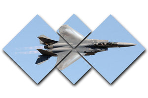 jet at high speed 4 Square Multi Panel Canvas  - Canvas Art Rocks - 1