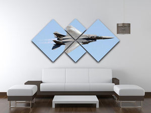 jet at high speed 4 Square Multi Panel Canvas  - Canvas Art Rocks - 3