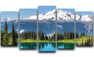 lake and Glacier Peak 5 Split Panel Canvas  - Canvas Art Rocks - 1