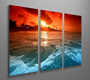 landscape ocean sunrice 3 Split Panel Canvas Print - Canvas Art Rocks - 2
