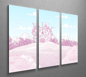magic princess castle 3 Split Panel Canvas Print - Canvas Art Rocks - 2