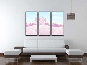 magic princess castle 3 Split Panel Canvas Print - Canvas Art Rocks - 3