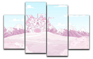 magic princess castle 4 Split Panel Canvas  - Canvas Art Rocks - 1