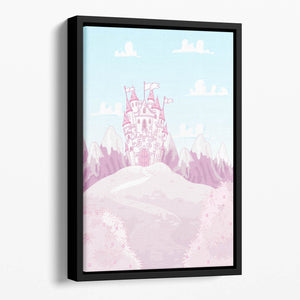 magic princess castle Floating Framed Canvas