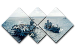 navy crossing the ocean 4 Square Multi Panel Canvas  - Canvas Art Rocks - 1