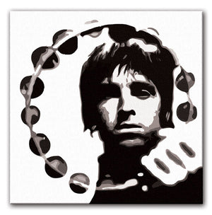 Noel Gallagher Tambourine Print - Canvas Art Rocks - 2