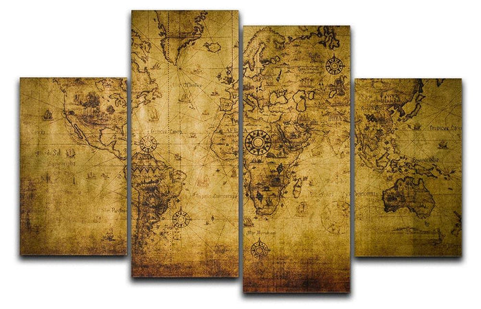 old map 4 Split Panel Canvas