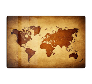 old map of the world HD Metal Print