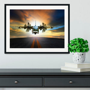 old military container plane Framed Print - Canvas Art Rocks - 1