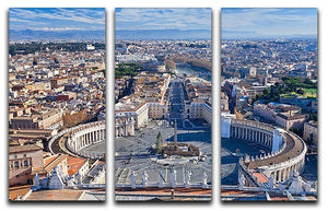 panorama of St.Peter Square 3 Split Panel Canvas Print - Canvas Art Rocks - 1