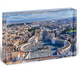 panorama of St.Peter Square Acrylic Block - Canvas Art Rocks - 1