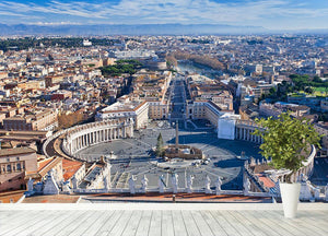 panorama of St.Peter Square Wall Mural Wallpaper - Canvas Art Rocks - 4