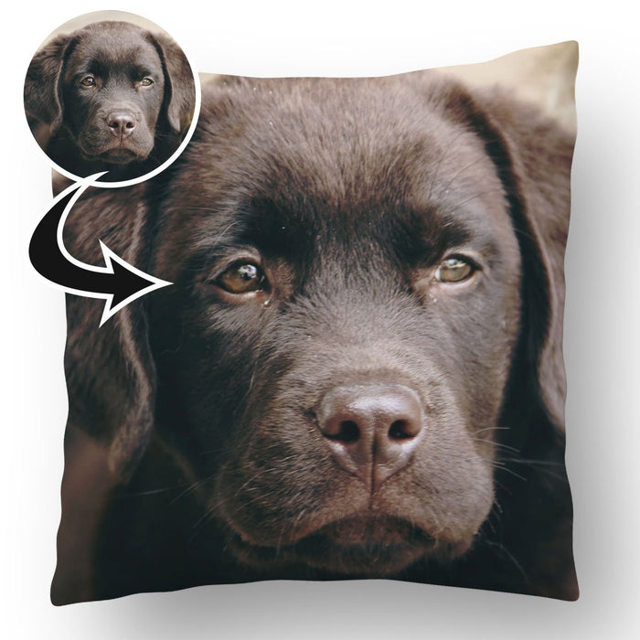 Personalised Photo Upload Dog Cushion