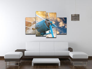 plane with propeller 4 Split Panel Canvas  - Canvas Art Rocks - 3
