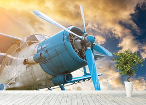plane with propeller Wall Mural Wallpaper - Canvas Art Rocks - 4