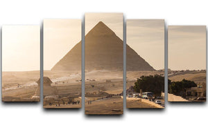 pyramid of Giza in Egypt 5 Split Panel Canvas  - Canvas Art Rocks - 1