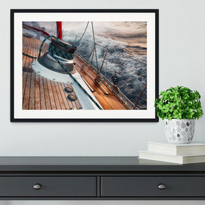 sail boat under the storm Framed Print - Canvas Art Rocks - 1