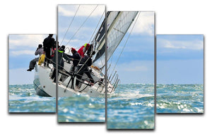 sailing crew 4 Split Panel Canvas  - Canvas Art Rocks - 1