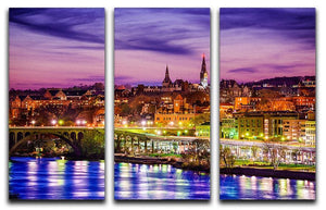 skyline on the Potomac River 3 Split Panel Canvas Print - Canvas Art Rocks - 1