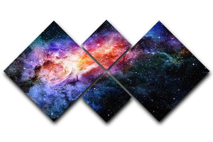 starry deep outer space nebula and galaxy 4 Square Multi Panel Canvas  - Canvas Art Rocks - 1