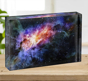 starry deep outer space nebula and galaxy Acrylic Block - Canvas Art Rocks - 2